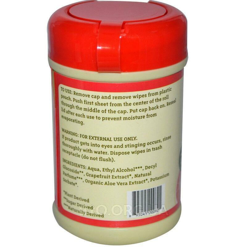 Универсальные очищающие салфетки Цитрусовый аромат фото товара
