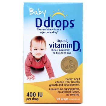 Купить Baby Liquid Vitamin D3 400 IU 2.5 ml 90 Drops (Рідкий вітамін ...