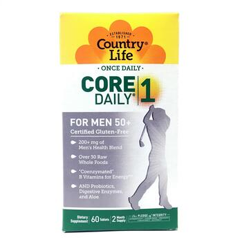 Купить Country Life Core Daily-1 Multivitamins Men 50+ 60 Tablets