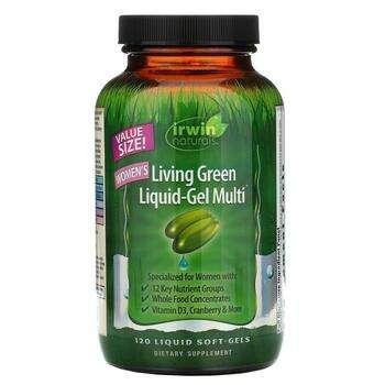 Купить Irwin Naturals Women's Living Green Liquid-Gel Multi 120 Liqui...