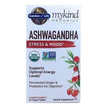 Купить MyKind Organics Ashwagandha Stress & Mood 60 Vegan Tablets