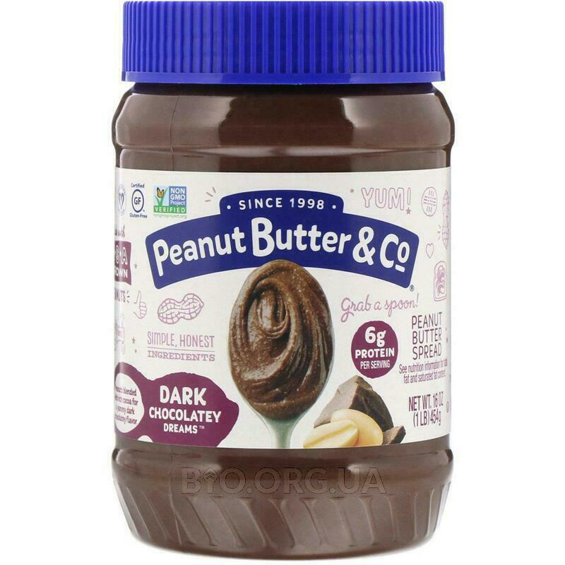 Peanut Butter & Co. Peanut Butter Blended With Rich Dark Chocolate Dark Chocolate Dreams 454 g