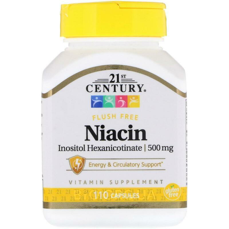 21 век Ниацин гексаникотинат инозитола 500 мг 110 капсул фото товара