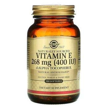 Купить Naturally Sourced Vitamin E 400 IU 100 Softgels
