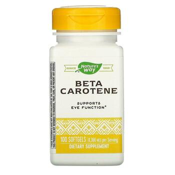 Купить Beta Carotene 25000 IU 100 Softgels (Nature's Way Бета-кар...