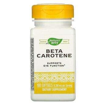 Купить Nature's Way Beta Carotene 25000 IU 100 Softgels