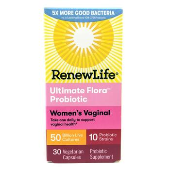 Купить Renew Life Ultimate Flora Vaginal Probiotic 30 VegCaps