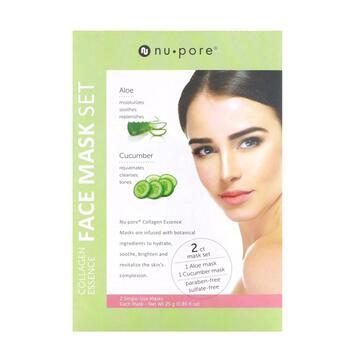 Купить Collagen Essence Face Mask Set Aloe & Cucumber 2 Single-Use Ma...
