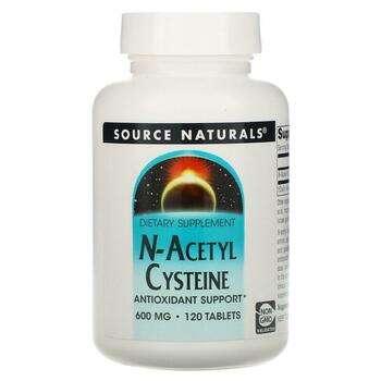 Купить Source Naturals N Acetyl Cysteine 600 mg 120 Tablets