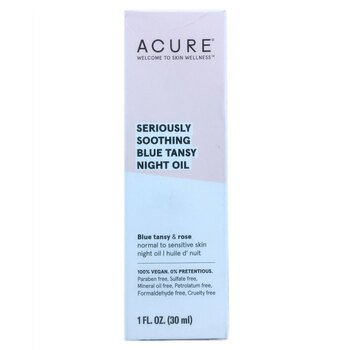 Купить ACURE Seriously Soothing Blue Tansy Night Oil 30 ml (ACURE Зас...