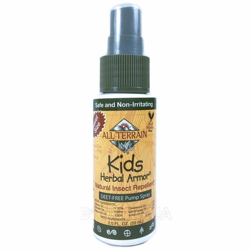 Детский Натуральный репеллент от насекомых Herbal Armor 59 мл фото товара