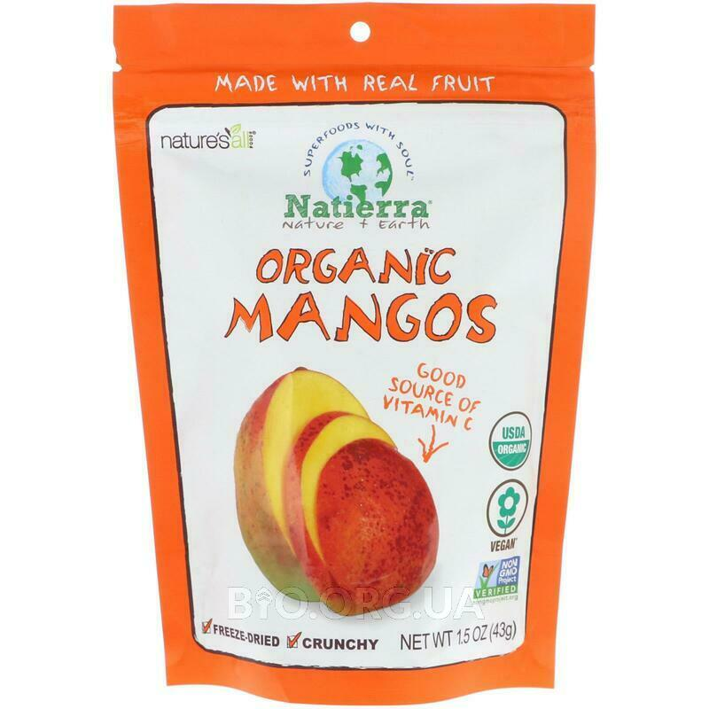 Natures All Freeze Dried Organic Mango 1.5 42.5 g фото товара