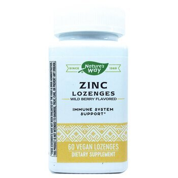 Купить Nature's Way Zinc Lozenges Wild Berry Flavored 60 Vegan Lozenges