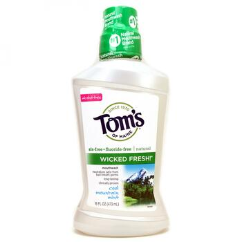 Купить Toms of Maine Wicked Fresh! Mouthwash Cool Mountain Mint 473 ml