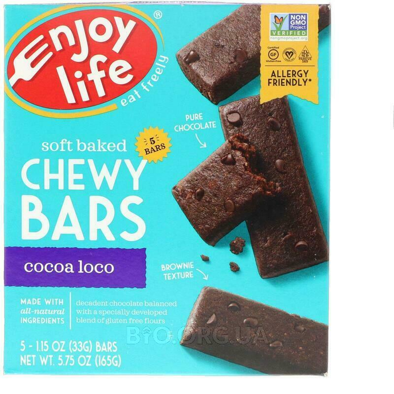 Baked Chewy Bars Cocoa Loco 5 Bars 1 28 g Each фото товара