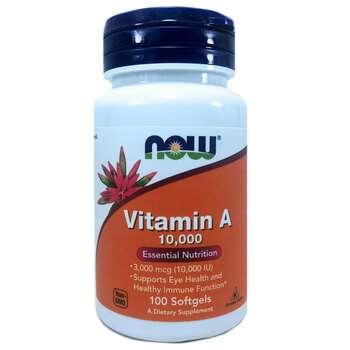 Купить Now Foods Vitamin A 10000 IU 100 Softgels