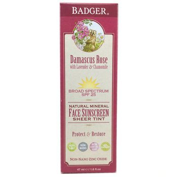 Купить Badger Company Damascus Rose Mineral Face Sunscreen SPF 25 47 ml