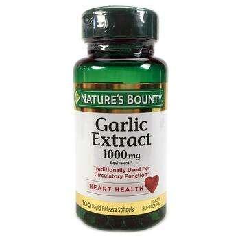 Купить Nature s Bounty Garlic Extract 1000 mg 100 Rapid Release Softg...