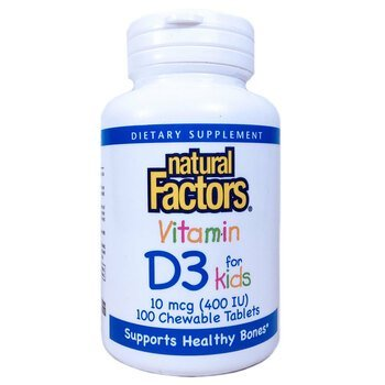 Купить Vitamin D3 For Kids 100 Chewable Tablets ( Вітамін D3 для діте...