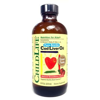 Купить ChildLife Cod Liver Oil Natural Strawberry Flavor 237 ml
