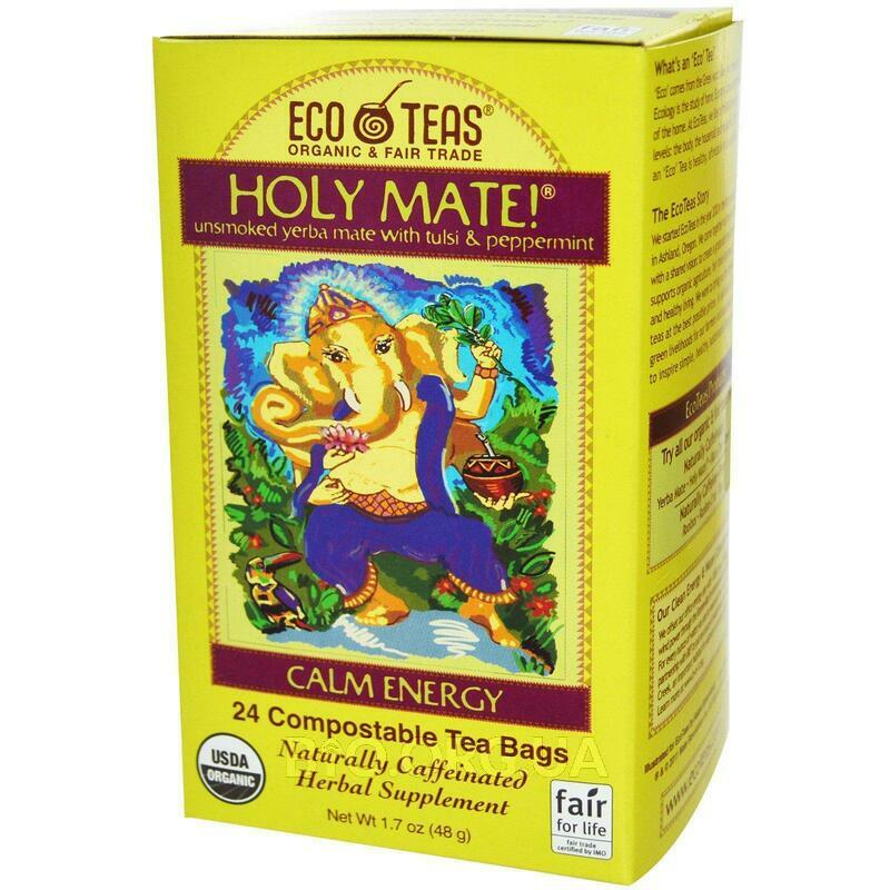 Holy Mate! Calm Energy Unsmoked Yerba Mate с тулси и мятой 24 ... фото товара