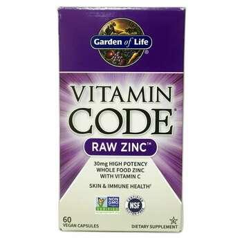 Купить Vitamin Code RAW Zinc 60 Vegan Capsules