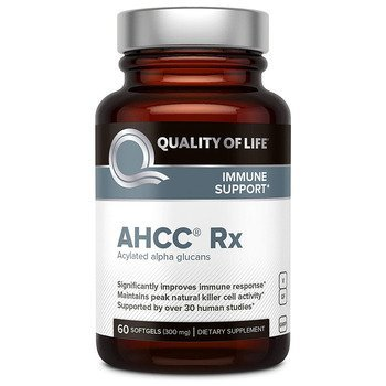 Купить Quality of Life AHCC RX 300 mg 60 Softgels