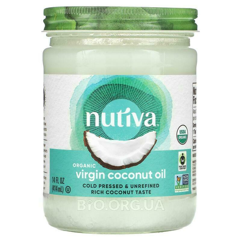 Nutiva Organic Superfood Coconut Oil Virgin 414 ml