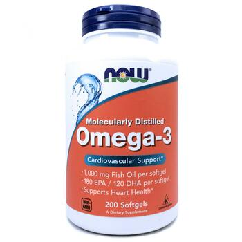 Купить Now Foods Omega-3 180 EPA / 120 DHA 200 Softgels