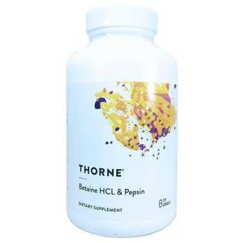 Купить Thorne Research Betaine HCL & Pepsin 225 Capsules