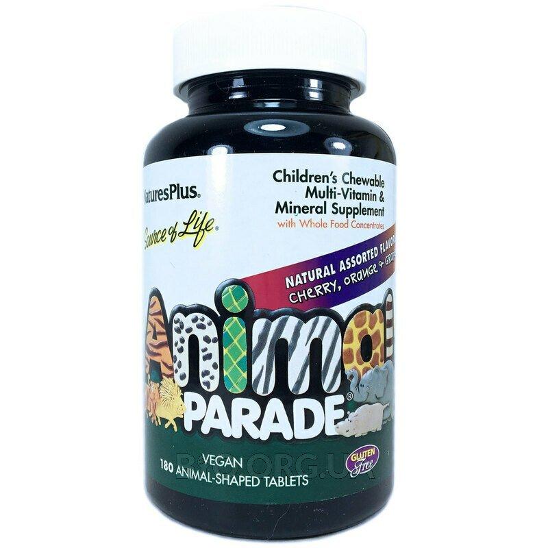 Мультивитамины для детей Natures Plus Animal Parade 180 жевате... фото товара