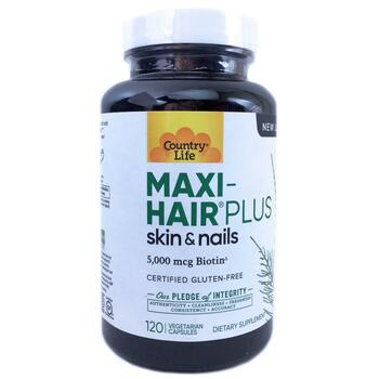 Купить Maxi-Hair Plus Skin & Nails 5000 mcg with PABA 120 Veggie Caps