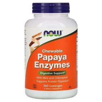 Купить Now Foods Papaya Enzymes Chewable 360 Lozenges