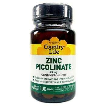 Купить Zinc Picolinate 25 mg 100 Tablets ( Цинк Пиколинат 25 мг 100 т...