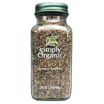 Купить Simply Organic Lemon Pepper 90 g