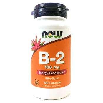 Купить Vitamin B-2 100 mg 100 Capsules ( Вітамін B-2 рибофлавін 100 м...