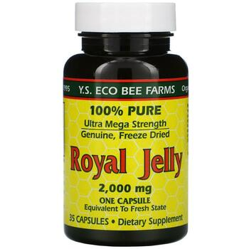 Купить Y.S. Eco Bee Farms Royal Jelly 2000 mg 35 Capsules