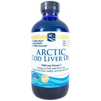 Купить Nordic Naturals Arctic Cod Liver Oil Lemon 237 ml