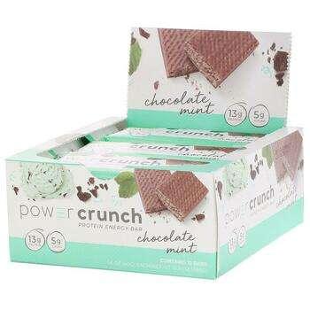 Купить BNRG Power Crunch Protein Energy Bar Original Chocolate Mint 1...