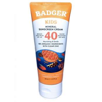 Купить Badger Company Active Kids Natural Mineral Sunscreen Cream SPF...