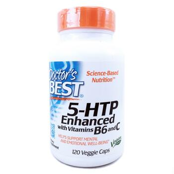 Купить Doctor's Best 5-HTP Enhanced with Vitamins B6 & C 120 Veggie Caps
