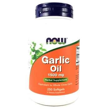 Купить Now Foods Garlic Oil 1500 mg 250 Softgels