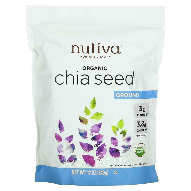 Нутива органические молотые семена Чиа 340 г фото товара