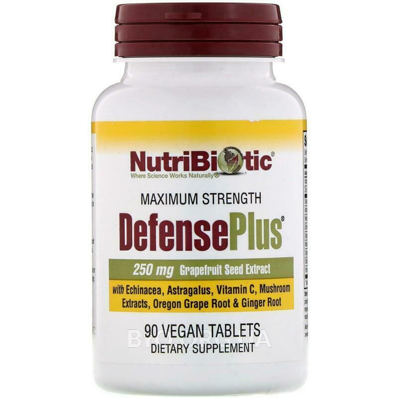 DefensePlus 250 мг экстракта семян грейпфрута 90 веганских таб... фото товара