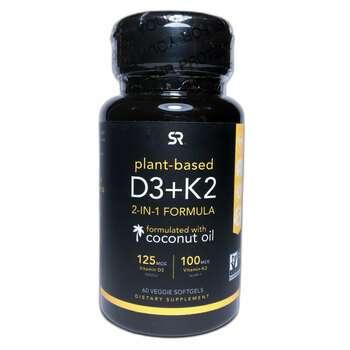 Купить Sports Research Vitamin K2 100 mcg & D3 5000 IU 60 Veggie Soft...