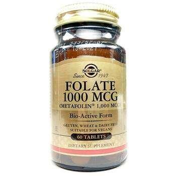 Купить Solgar Folate 1000 mcg 60 Tablets