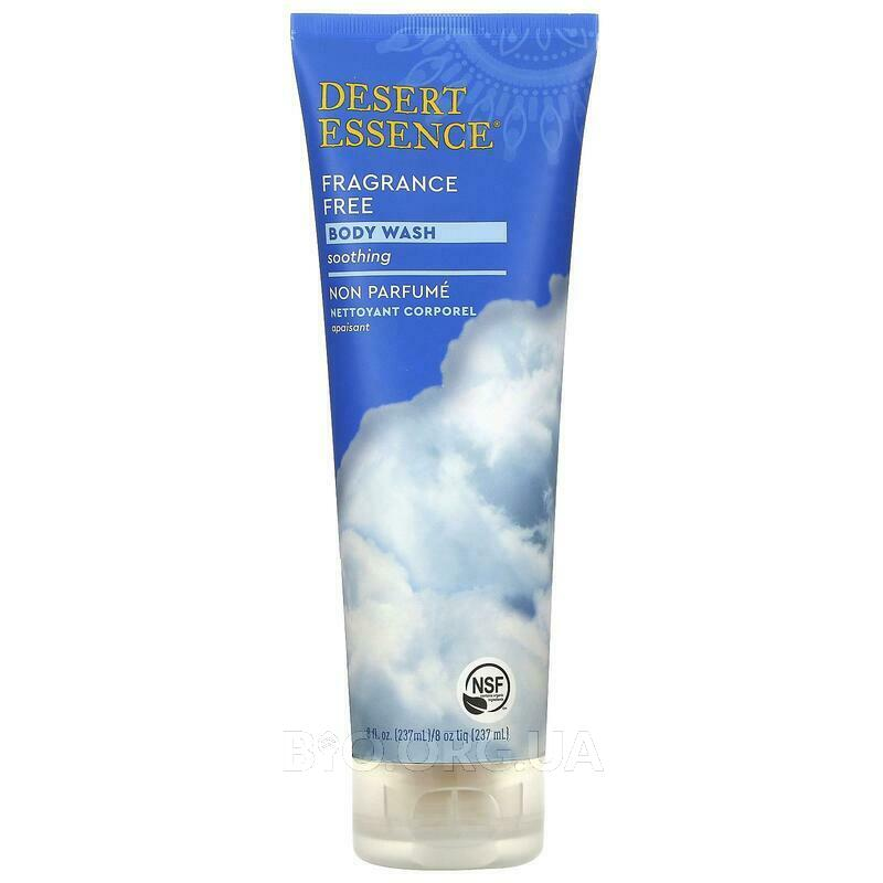 Desert Essence Organics Body Wash Fragrance Free 237 ml