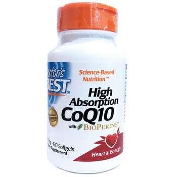 Купить Doctor's Best CoQ10 with BioPerine 100 mg 120 Softgels