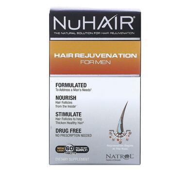 Купить Natrol NuHair Hair Rejuvenation for Men 60 Tablets