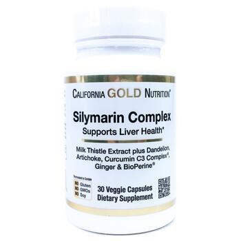 Купить California Gold Nutrition Silymarin Milk Thistle Extract Compl...
